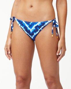 Tide Dye Stripe Reversible String Bikini Bottoms