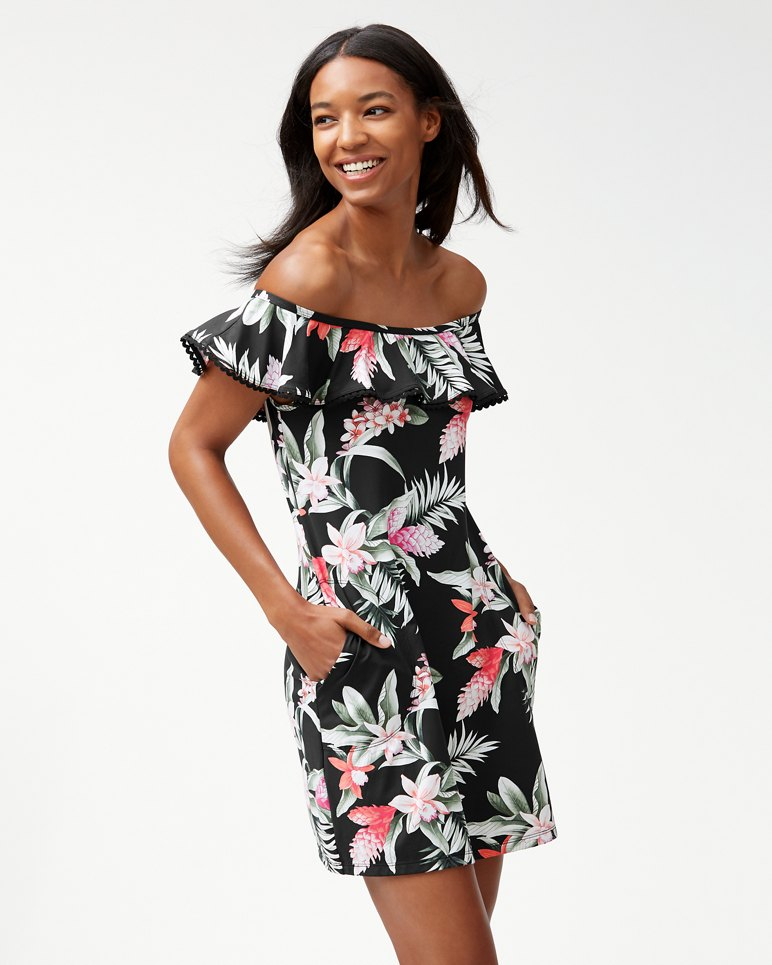 Main Image for Ginger Flowers Ruffle Swim Dress
