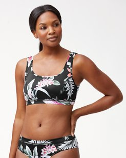 IslandActive® Ginger Flowers Reversible Scoop Neck Bra