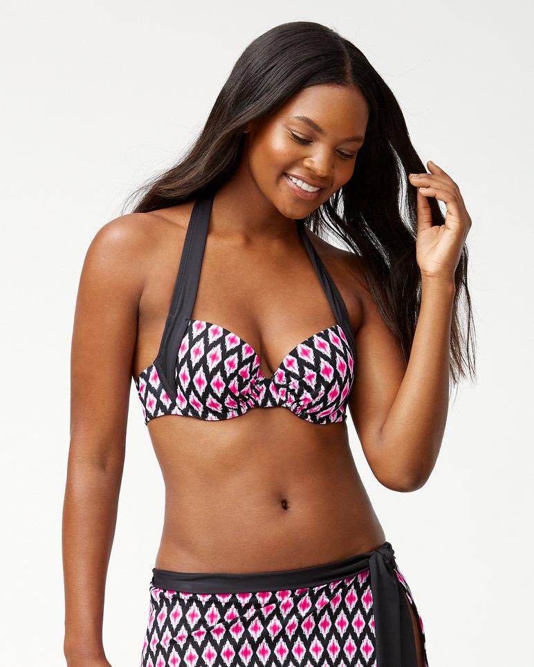 Main Image for Cerise Tiles Underwire Halter Bikini Top