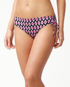 Cerise Tiles Reversible Side-Tie Bikini Bottoms