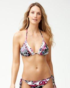 Ocean Garden Reversible Triangle Bikini Top