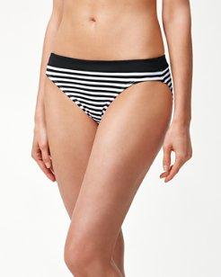 Little Stripe Banded Hipster Bikini Bottoms