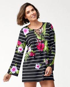 Paradise Breeze Lace-Up Tunic