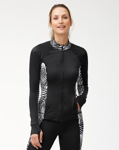 IslandActive® Frond Song Zip-Front Rash Guard