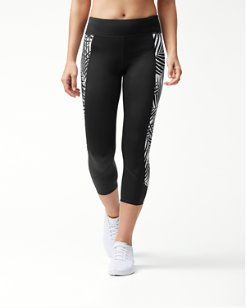IslandActive® Frond Song Reversible Cropped Leggings