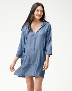 Chambray Popover Hoodie