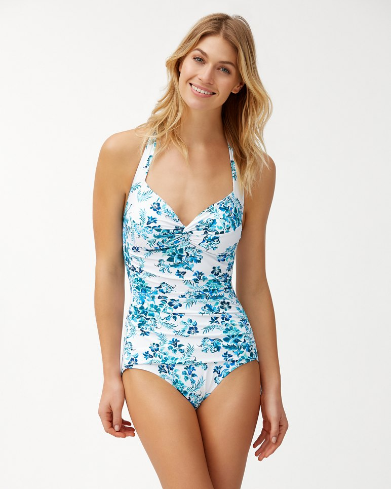 Main Image for Floral Isles Halter One-Piece Swimsuit
