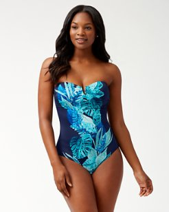 Floral Isles Bandeau One-Piece Swimsuit