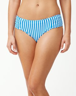 Palm Party Reversible High-Waist Bikini Bottoms