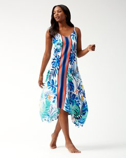 Palm Party Scarf Dress