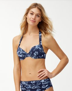 Chambray Blossoms Underwire Bikini Top