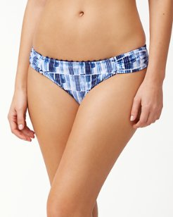 Chambray Blossoms Reversible Hipster Bikini Bottoms