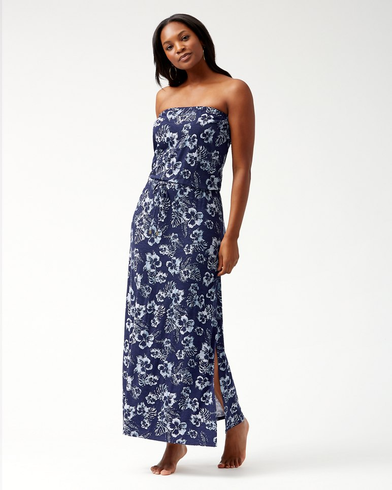 Main Image for Chambray Blossoms Bandeau Maxi Dress