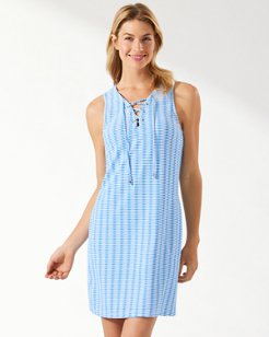 Island Cays Lace-Up Dress