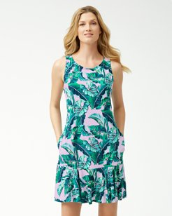 Breezy Palms Swim Dress