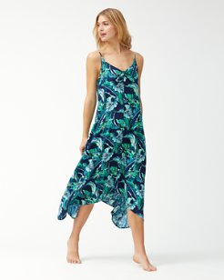 Breezy Palms Scarf Dress