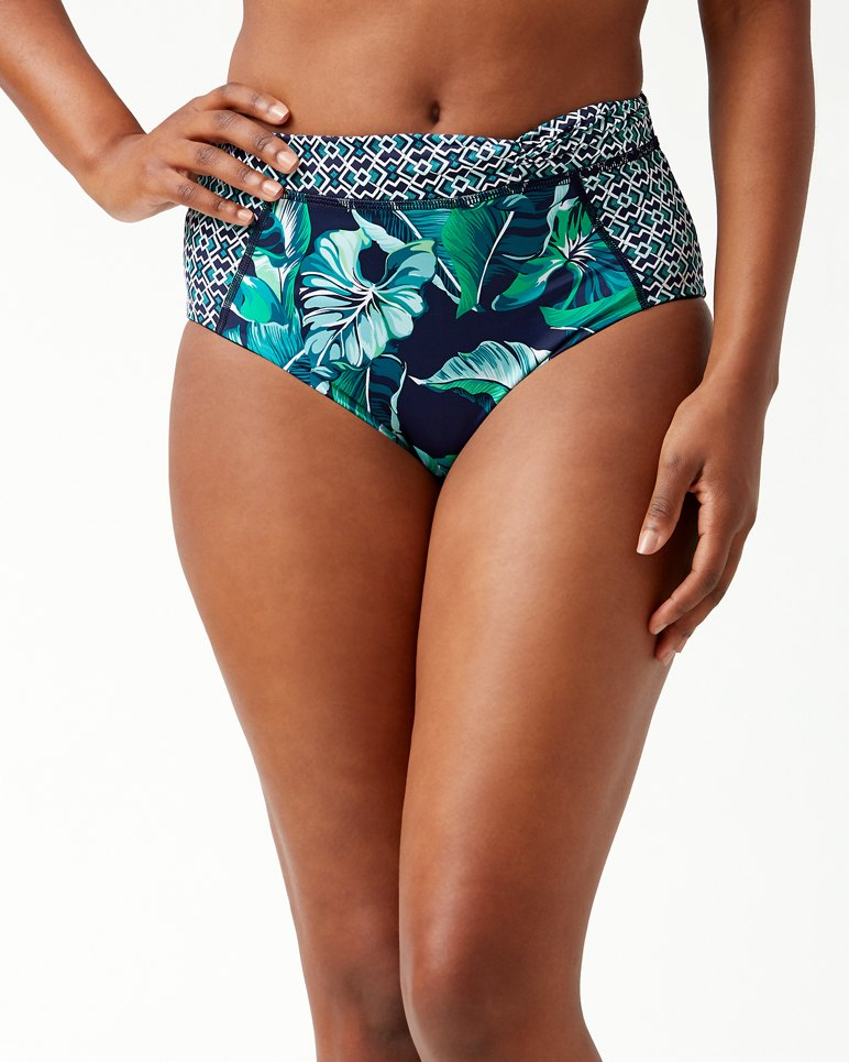 Main Image for IslandActive® Breezy Palms High-Waisted Bikini Bottoms