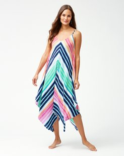 Rainbow Chevron Scarf Dress