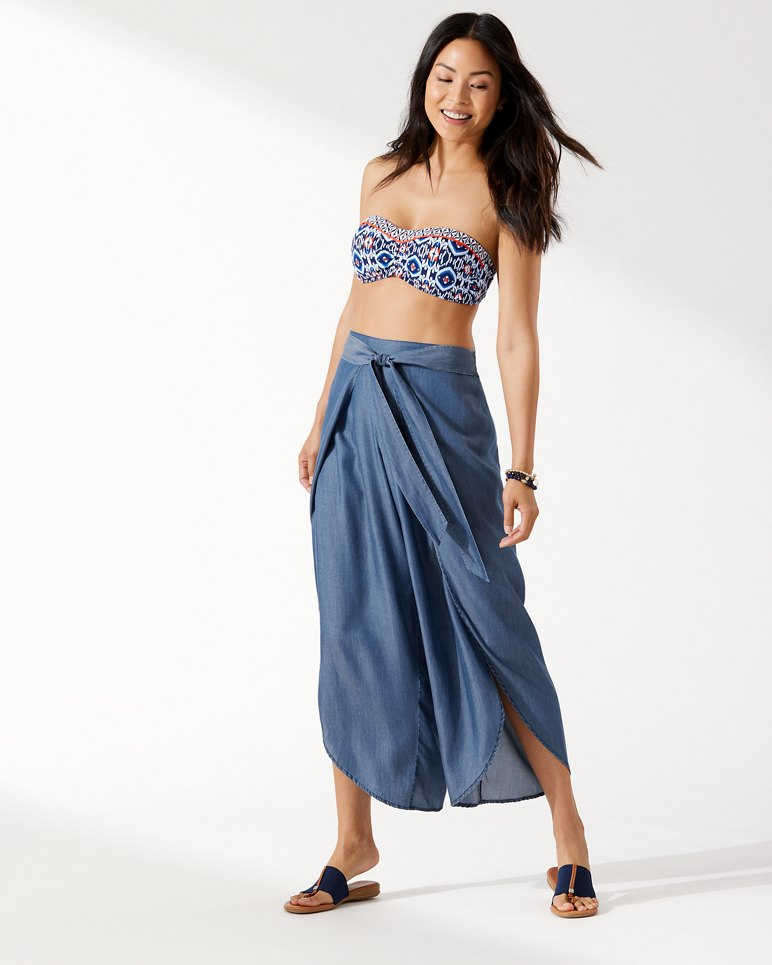 1154c9080b Main Image for Chambray Wrap-Front Beach Pants