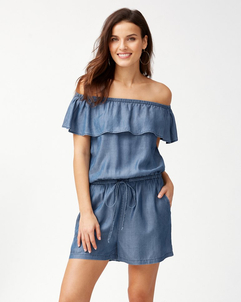 Main Image for Chambray Ruffle Romper