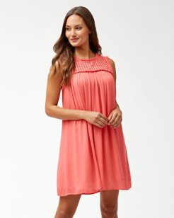 Crinkle Rayon Dress