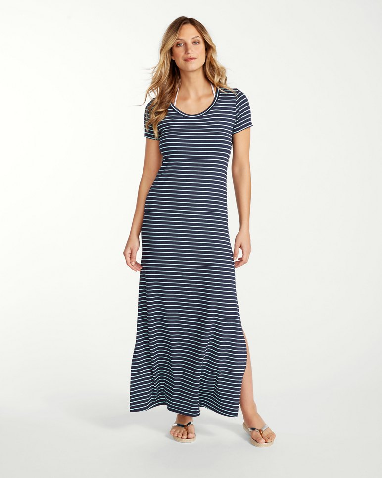 764547d991ef Main Image for Yarn-Dyed Striped T-Shirt Maxi Dress