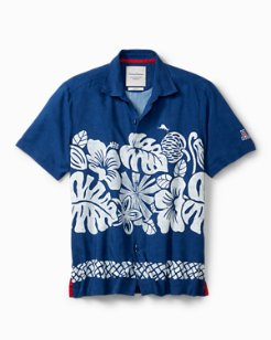 Collegiate Tiki Time Trim Fit Camp Shirt