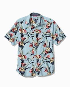 Trim Fit Cape Floral Stretch-Cotton Camp Shirt