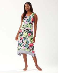 Night Tropical Maxi Gown
