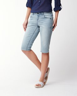 Afton Denim 15-Inch Clam Diggers