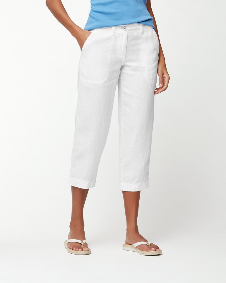 Main Image for Sea Glass Linen Cropped Pants