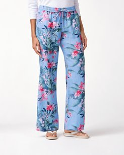Madeira Blooms Linen Easy Pants