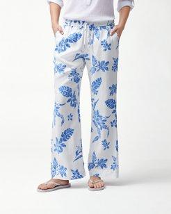 Hibiscus Hiatus Linen Easy Pants