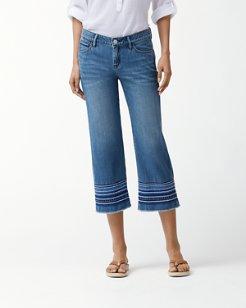 Devin Indigo Folk La Flor Cropped Jeans