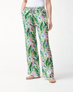 Tulum Blooms Linen Easy Pants