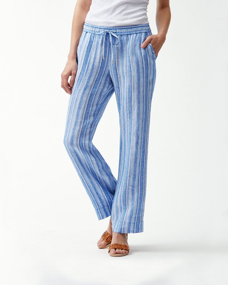 Main Image for Santiago Stripe Linen-Blend Easy Pants