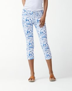 Coastal Cabanas Cropped Jeans