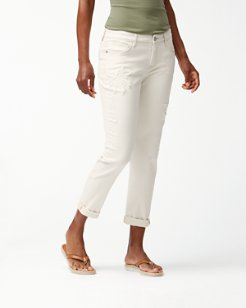Palm Slim Boyfriend Jeans