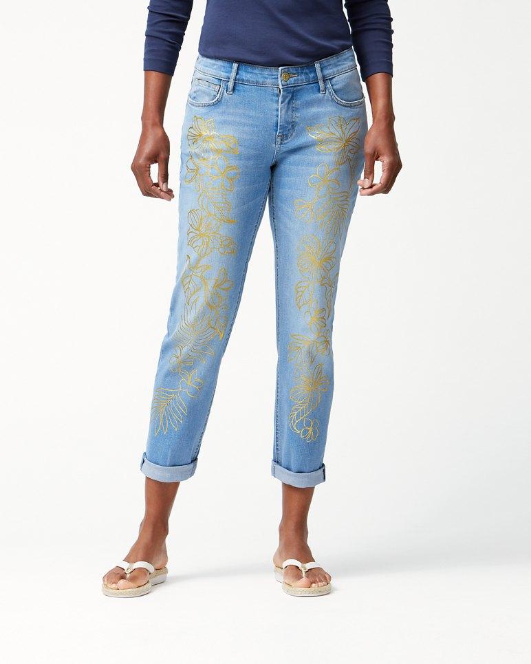 Main Image for Tema Indigo Rain Foil Slim Boyfriend Jeans