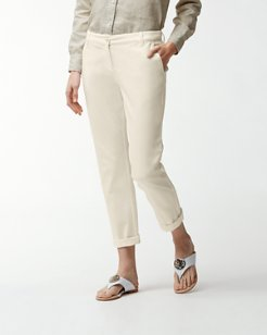 Twill Slim Boyfriend Pants