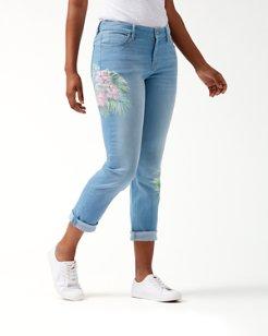 Tema Indigo Kayo Blossoms Slim Boyfriend Jeans