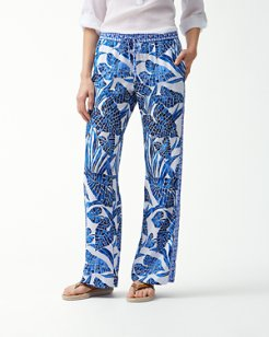 Mosaic Palm Easy Pants