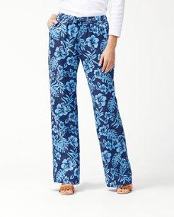 Hoani Hibiscus Linen Easy Pants