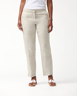 Ombra Blossoms Linen Pants