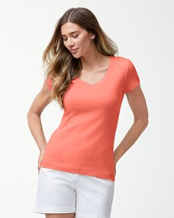 Indio Rib V-Neck T-Shirt