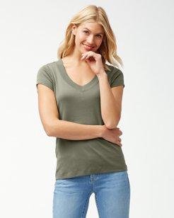 Indio Rib V-Neck T-Shirt