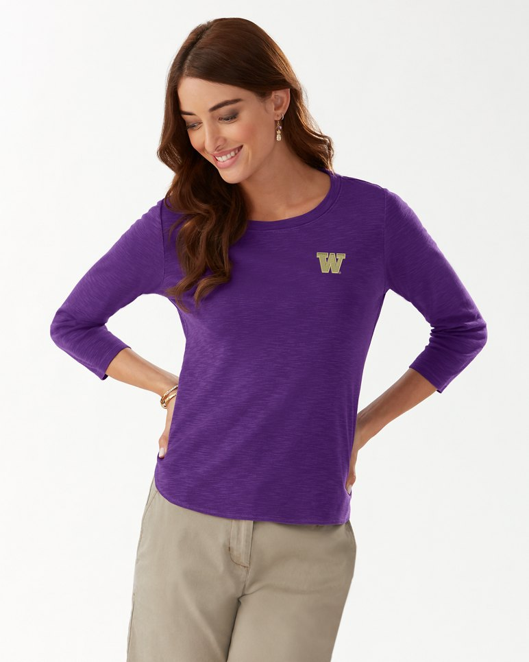 Main Image for Collegiate Ashby Rib 3/4-Sleeve T-Shirt