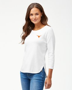 Collegiate Ashby Rib 3/4-Sleeve T-Shirt