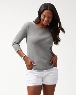 Ashby Rib ¾-Sleeve T-Shirt